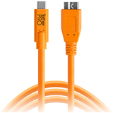 کابل  Tether Tools TetherPro USB Type-C Male to Micro-USB 3.0 Type-B Male Cable (15', Orange):CUC3315-ORG